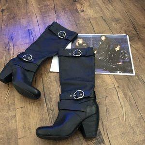 Lucky Brand Chunky Heel Boots